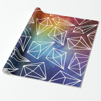 Colorful Space Diamonds Wrapping Paper
