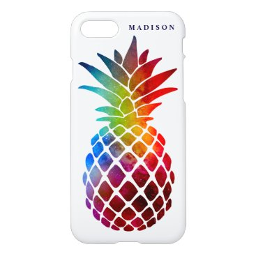 Beach Themed Colorful Space Pineapple Stylish Tropical Zazzle iPhone 8/7 Case