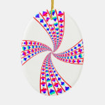 Colorful Spades, Hearts, Diamonds, and Clubs Christmas Ornaments