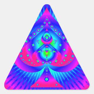 Colorful Spades Symbol Triangle Sticker