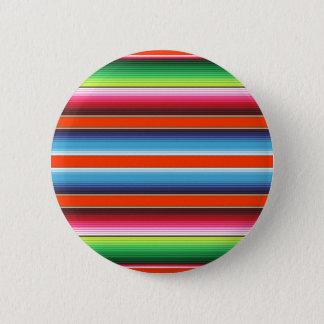 Colorful Spanish Serape Fiesta Mexican Blanket Pinback Button
