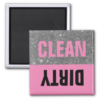 Colorful Sparkle Clean Dirty Dishwasher Magnet