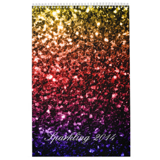 Colorful Sparkles Custom Printed Calendar