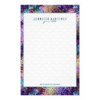 Colorful Sparkles & Glitter Pattern 3 Stationery