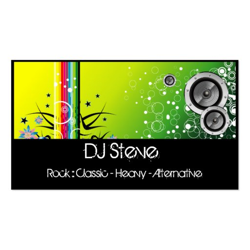 Colorful Speakers Band DJ Music Business Cards