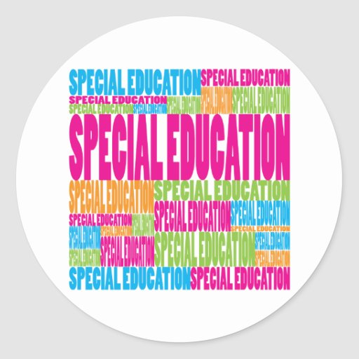 Colorful Special Education Classic Round Sticker