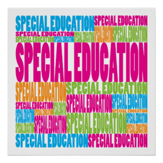 Colorful Special Education Poster