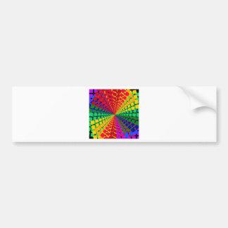 Colorful spectral background car bumper sticker