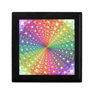 Colorful spectral background jewelry box