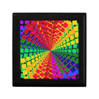 Colorful spectral background keepsake box