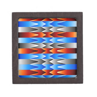 Colorful spectral background premium jewelry box