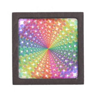 Colorful spectral background premium trinket boxes