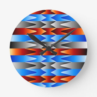 Colorful spectral background round clock
