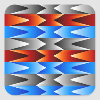 Colorful spectral background square sticker