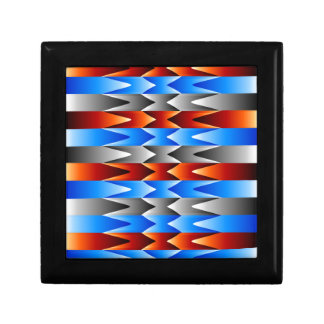 Colorful spectral background trinket box