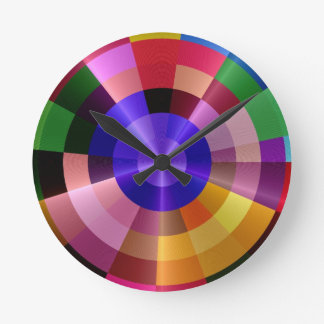 colorful spectrum modern clock