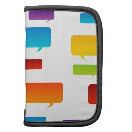 Colorful speech bubbles organizer