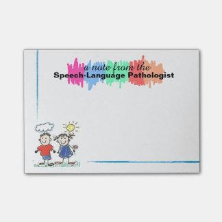 Colorful Speech-Language Pathologist Sticky Notes