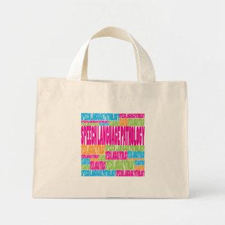 Colorful Speech Language Pathology Mini Tote Bag