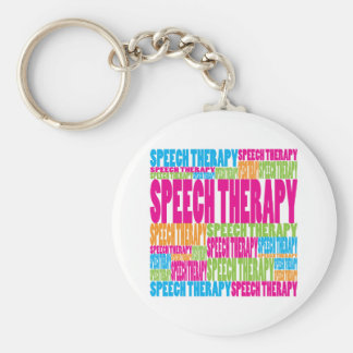 Colorful Speech Therapy Basic Round Button Keychain