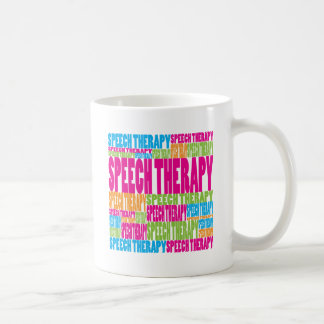 Colorful Speech Therapy Classic White Coffee Mug