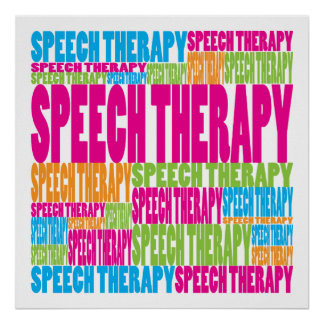 Colorful Speech Therapy Poster