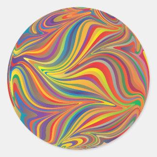 colorful sphere classic round sticker