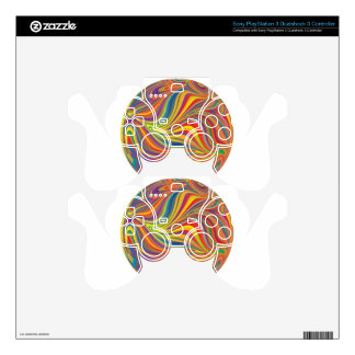 colorful sphere PS3 controller skins