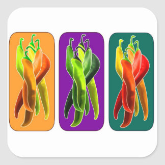 Colorful Spicy Peppers Sticker