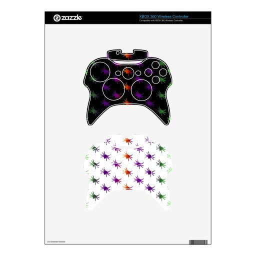 Colorful Spiders Pattern Xbox 360 Controller Decal
