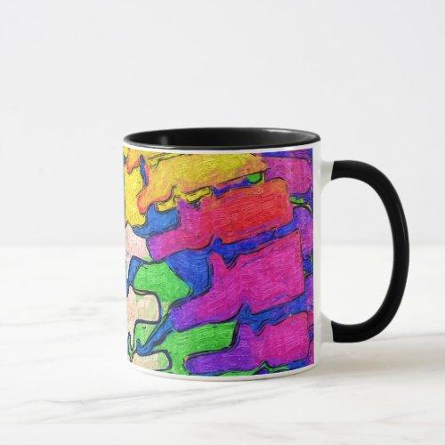 Colorful Spine Art Mug