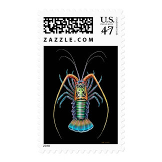 Colorful Spiny Lobster Postage