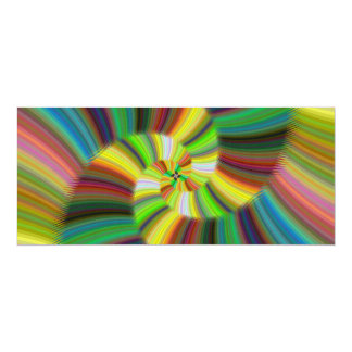Colorful spiral card