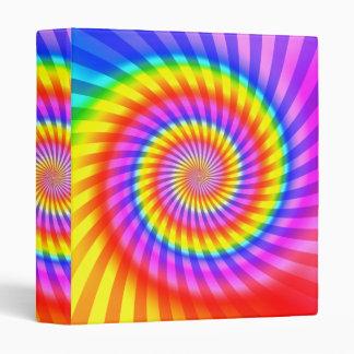Colorful Spiral Design: Binder