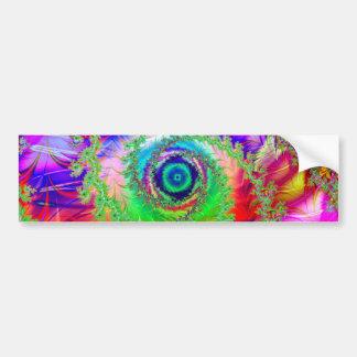 Colorful Spiral Design: Bumper Sticker