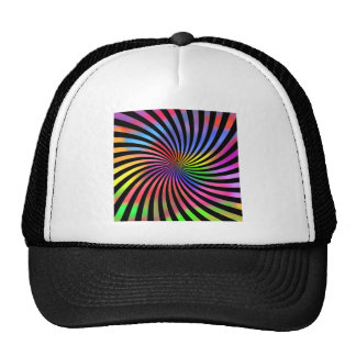 Colorful Spiral Design: Hats