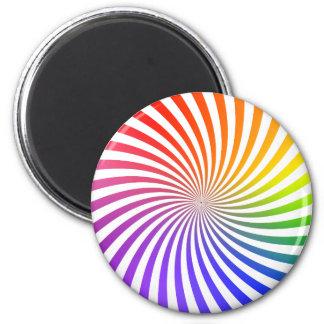 Colorful Spiral Design: 2 Inch Round Magnet
