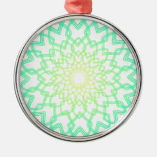 Colorful Spiral Design Metal Ornament