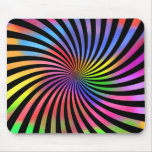 Colorful Spiral Design: Mouse Pad