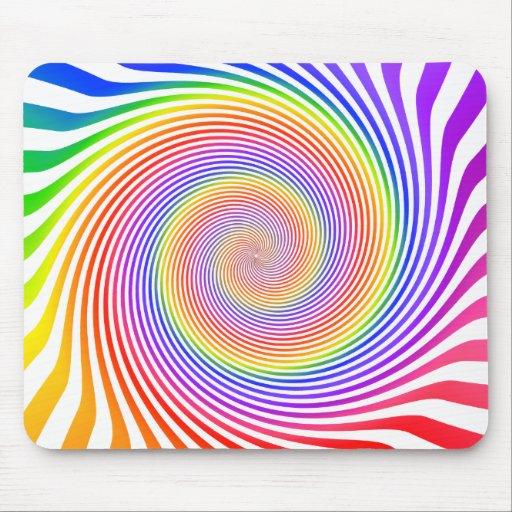 Colorful Spiral Design: Mousepad