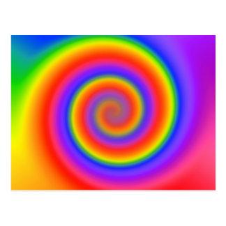 Colorful Spiral Design: Postcard