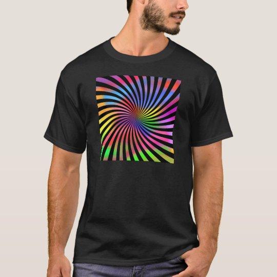 Colorful Spiral Design: T-Shirt