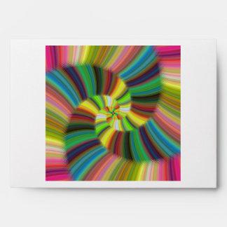 Colorful spiral envelope