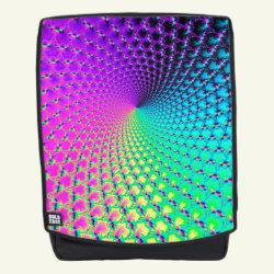 Colorful Spiral Fractal Kaleidoscope Backpack