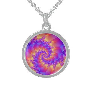 Colorful Spiral Fractal Necklace