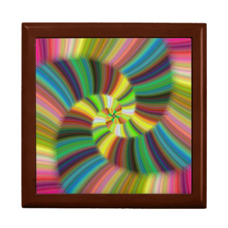 Colorful spiral gift box