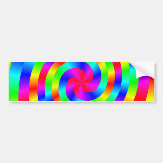 colorful spiral mandala bumper sticker