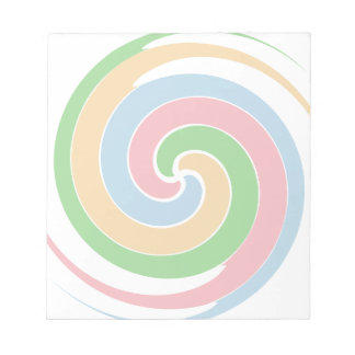 Colorful spiral memo note pads