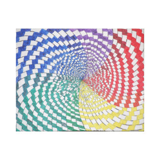 Colorful spiral optical illusion canvas print