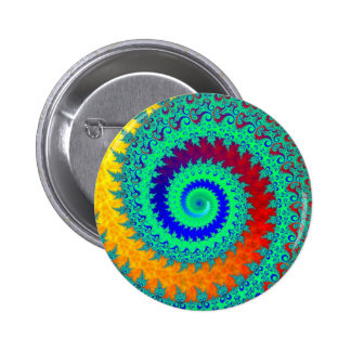 Colorful Spiral Pinback Button